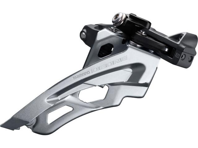 Shimano Deore MTB FD-M6000 Deragliatore 3x10 velocità Side Swing Schelle mitte nero/argento
